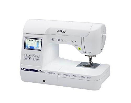 """Brother Computerized Embroidery Machine, Combination Sewing with 5"""" x Embroidery Field, Large Touch LCD Built-In Designs, 8 Feet"""