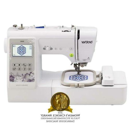 se600 computerized sewing and embroidery machine white