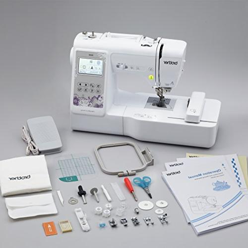 "Brother Computerized Sewing and Embroidery Machine 4"" 4"" Embroidery Area, Embroidery 103 Sewing White"