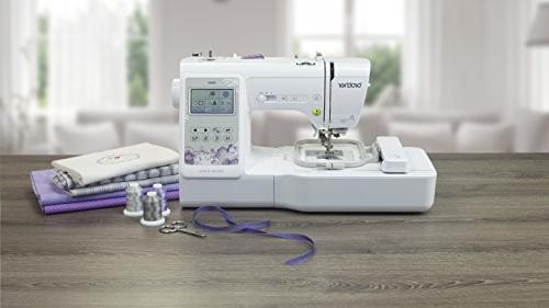 "Brother Sewing Computerized Sewing Machine with 4"" Embroidery Area, Embroidery Designs, Sewing White"