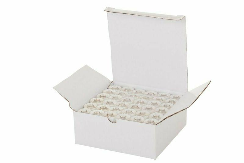 Set of 144 Embroidex 90 Weight Wt White Plastic Sided Prewou