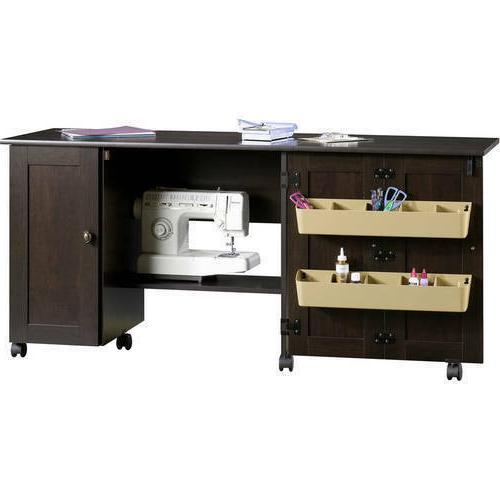 sewing machine table cabinet station sew craft