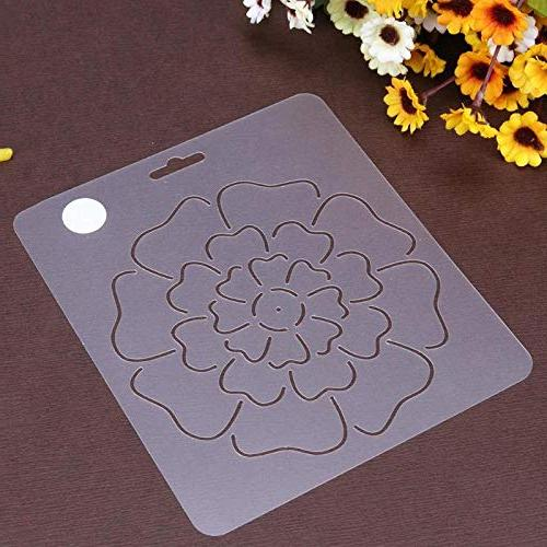 Sewing Tools - 1pcs Flower Stencil Quilting Craft - Patchwork For Quilt .rugs Painting Craft Patte