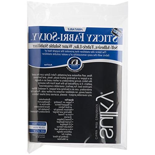 sticky fabri solvy stabilizer