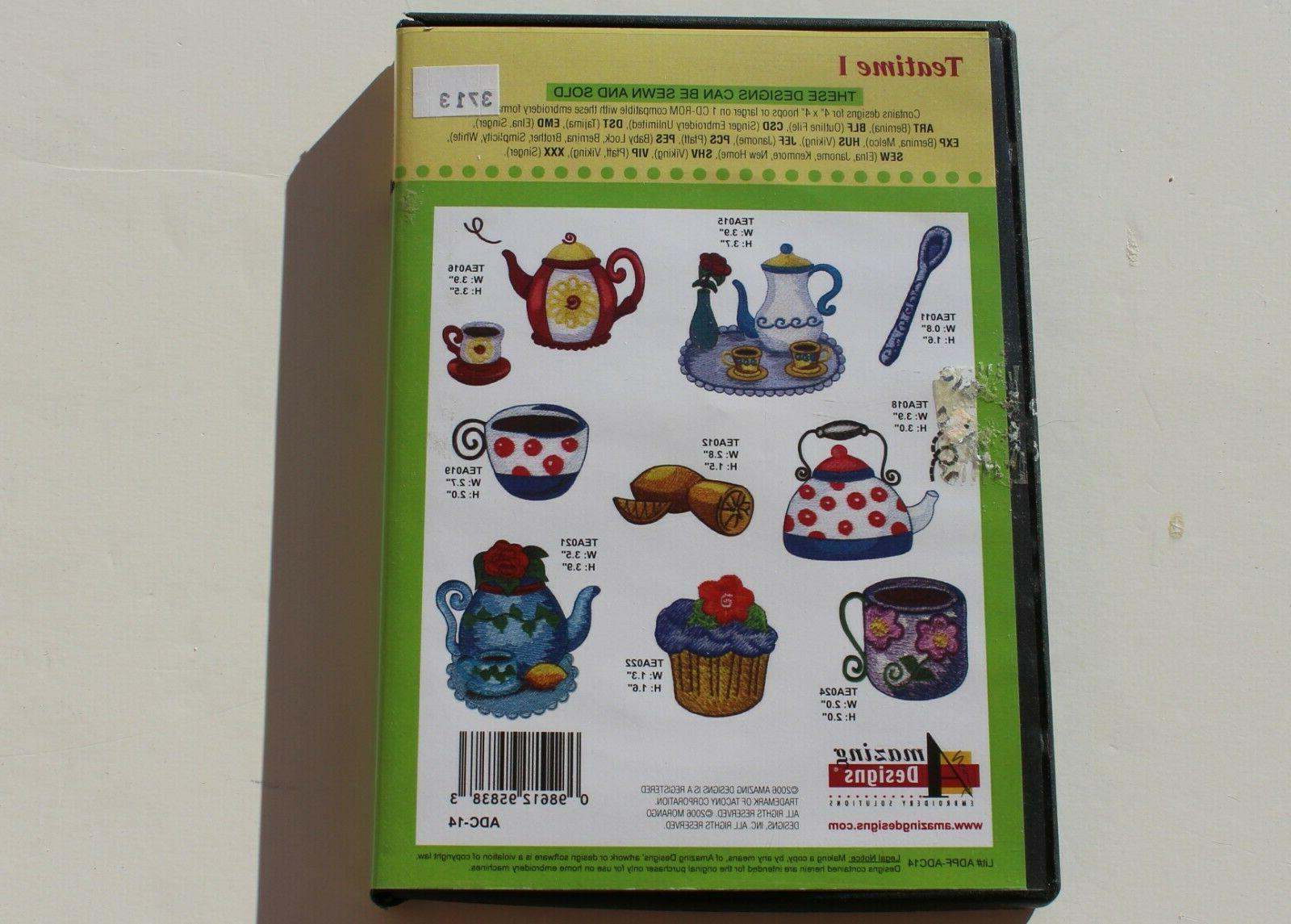 """AMAZING DESIGNS I"""" MACHINE EMBROIDERY CD Preowned"""