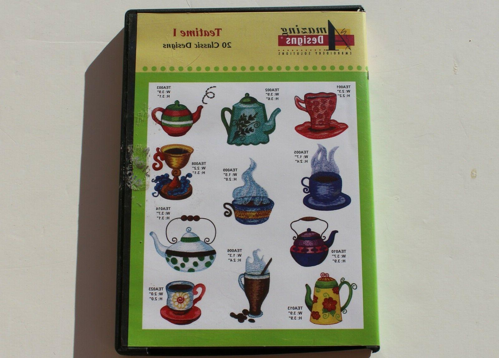 teatime i machine embroidery cd preowned