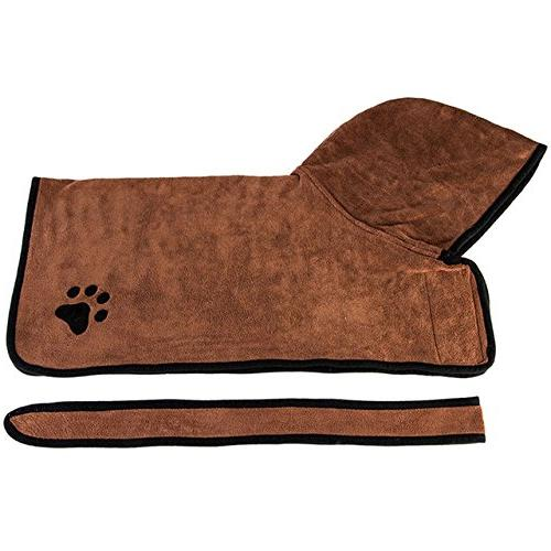 Thirsty Tomography Absorbent Bath Towel Dog Warm Clothes Absorbent Pet Drying Embroidery Paw Hood Bath Towel Favored -