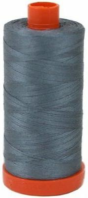 Aurifil Thread 1246 Med/Dark GREY Cotton Mako 50wt Large Spo
