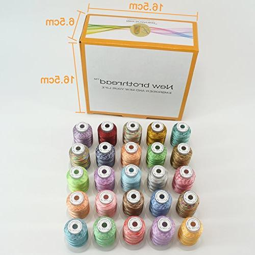 New Variegated Thread Kit Spool for Janome Pfaff Babylock