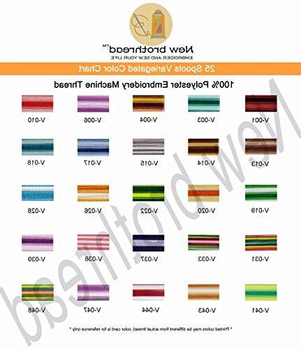 New brothread Colors Thread Spool Brother Pfaff Husqvaran Sewing Machines