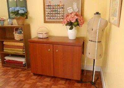 viking designer diamond sewing cabinet bertha by