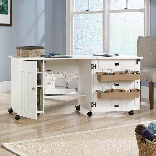 White Sewing Machine Storage