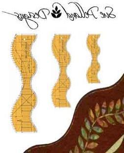 Sue Pelland Designs Leaves Galore 3-Piece Template Set - Gra