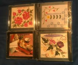 Lot of 4 Sewing Machine Embroidery Memory Cards JANOME ENVIS