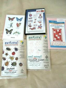 LOT OF 5 MACHINE EMBROIDERY PATTERNS CD'S AMAZING DESIGNS, C