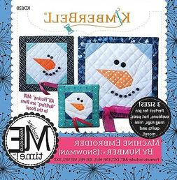 MACHINE EMBROIDER BY NUMBER SNOWMAN MACHINE EMBROIDERY CD, F