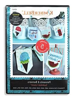 KIMBERBELL Machine Embroidery CD: Pennants & Banners: Summer