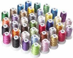 Machine Embroidery Thread Polyester 40 Spools Vibrant Colors