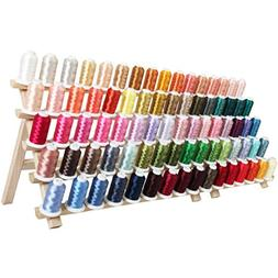 Machine Embroidery Thread Set - 80 Colors of Polyester on 50