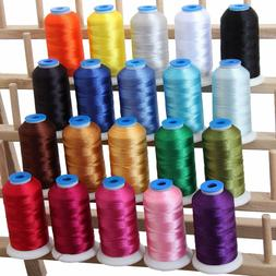 MACHINE EMBROIDERY THREAD SETS - POLYESTER 20 COLORS - 8 SET