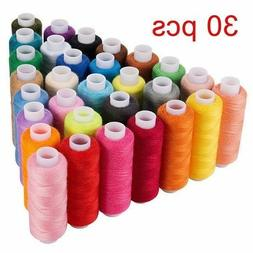Machine Embroidery Thread Sewing Polyester 30 Spools Lot Col