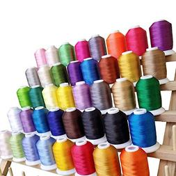 CraftsOpoly Embroidery Machine Thread with Self Lock Spools