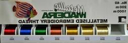 Madeira Metallic 40 Machine Embroidery Thread 1000m Spools,