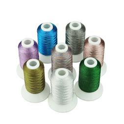 SIMTHREAD Metallic Embroidery Machine Spools Thread - 8 Pear