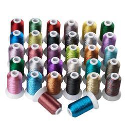 SIMTHREAD Metallic Embroidery Machine Thread - 32 Different