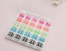 Aketek Multi-colour Style SA156 Sewing Machine Bobbins for B