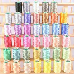 NEW 40 FROSTY COLOR RAYON MACHINE EMBROIDERY THREAD 4 BROTHE
