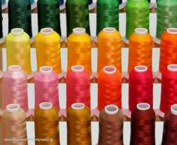 New 63 Brother Colors Machine Embroidery Thread Set 40wt Con