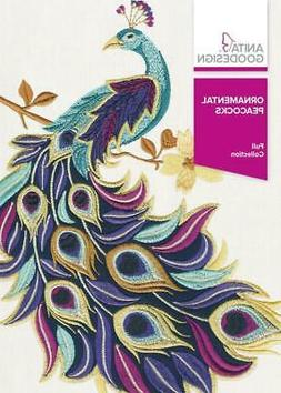 Anita Goodesign Ornamental Peacocks Embroidery Machine Desig