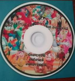 Disney and Other Cartoon machine embroidery Designs CD