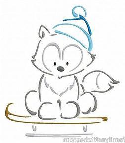 Outline Winter Animals 10 Machine Embroidery Designs on mult