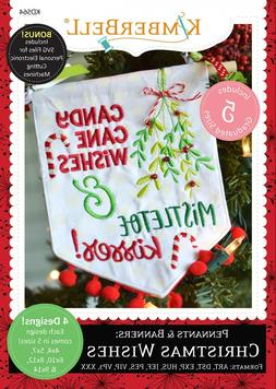 PENNANTS & BANNERS: CHRISTMAS WISHES MACHINE EMBROIDERY CD,