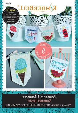 PENNANTS AND BANNERS: SUMMER LOVIN' MACHINE EMBROIDERY CD, F