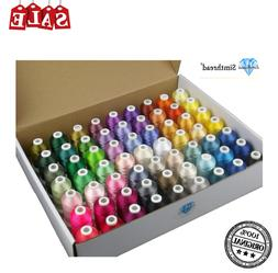 Simthread Polyester Embroidery hine Thread Kit 63 Brother Co