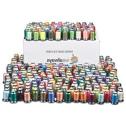 Polyester Embroidery Machine Thread Set - 500m each, Huge Bo