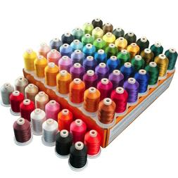 Polyester Embroidery Machine Thread Set - 64 Spools 1000 Met