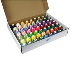 Simthread 63 Color 100% Polyester Machine Embroidery Thread