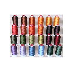 POLYESTER MACHINE EMBROIDERY THREAD SET 24 FALL COLORS THREA