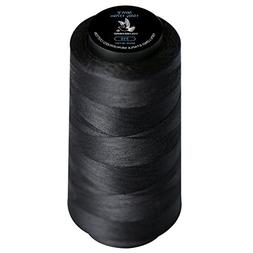 Popular Black 50WT 100% Extra-Long Staple Cotton Sewing Thre