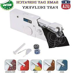 Portable Electric Tailor Stitch Handheld Clothes Sewing Mach
