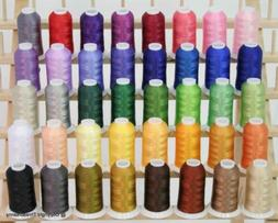 Premium Polyester Brother Machine Embroidery Thread Set - 40