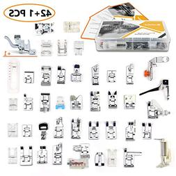 43 pcs Presser Feet Set with Manual & Adapter SIMPZIA Sewing