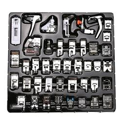 CAMMITEVER 42Pcs Presser Foot Pfaff Calcadores Maquina De Co