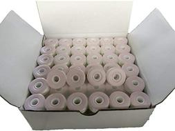 Prewound bobbin, card board, size L, white color, 144pcs per