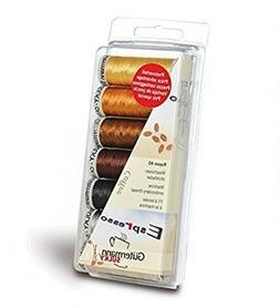 COFFEE Gutermann Sulky Rayon No.40 Machine Thread Set 7 Colour Box Set