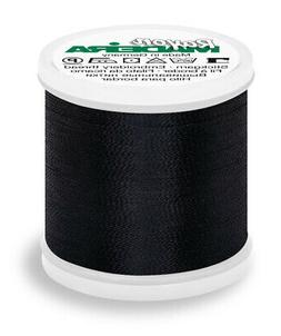 Madeira Rayon 40 Machine Embroidery Thread 200m #1000 BLACK